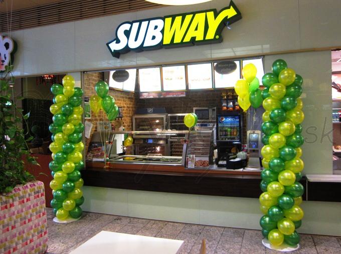 Balónové stĺpy pritiahnu oči nových malých aj veľkých zákazníkov