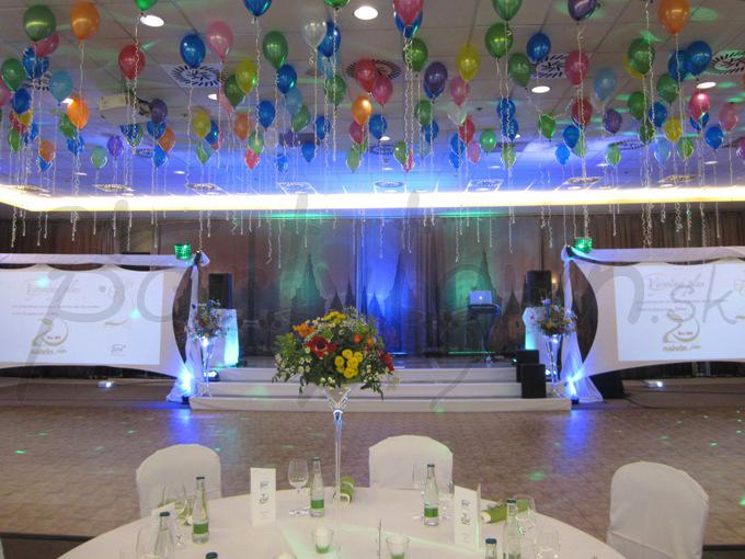 Pod stropom vyfarbeným balónmi vaše nohy tancujú samé
