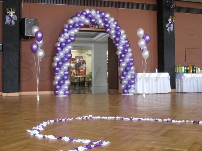 Perleťovo-fialový vstup na oslavu lásky