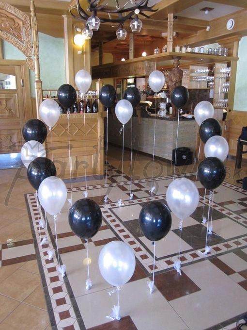 Srdce zo vznášajúcich sa balónov pre svadobnú volenku
